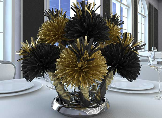 Black and Gold  Mitzvah Centerpieces